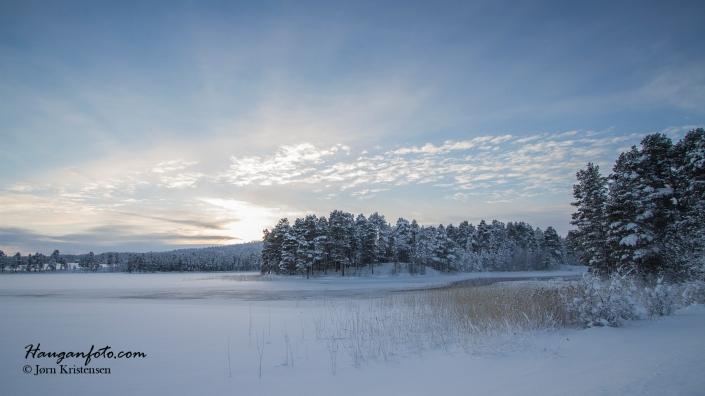 Fløtningesjøen, men på norsk side. Det får være grenser!