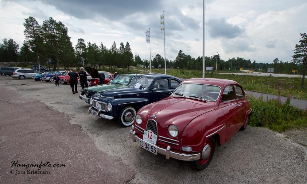 Eldars Saab nærmest med masse ny bling-bling. Herlig bil.