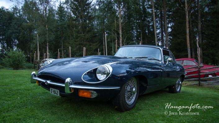 En Jaguar som svingte innom litt godt utpå kvelden. Men det gjorde ingen ting det, for skikkelig fin var'n.