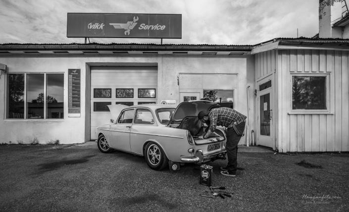Hengerfeste er forresten også kommet på i løpet av Øyvinds tid som eier. Bildet er arrangert, bilen fungerer som bare det!