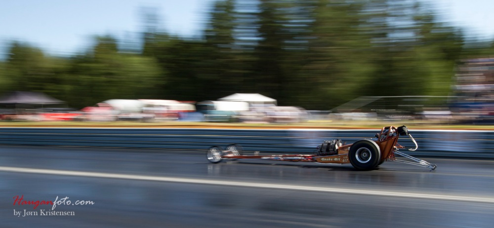 Så bar det ut på banen! Steike som den gikk. Her rattet av Marius Andersson.