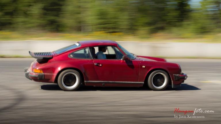 Porschen klarte seg bra på banen, men ble klart slått av ei boble :-)