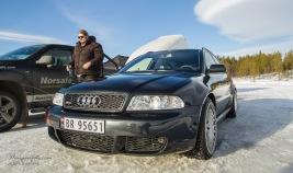 Thomas Skaala og Audi'n er faste gjester på Vurrusjøen. Trivelig kar og gjennomført bil.