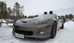 Corvette med ishjul. Rått.