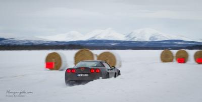 Corvette i sjikane.