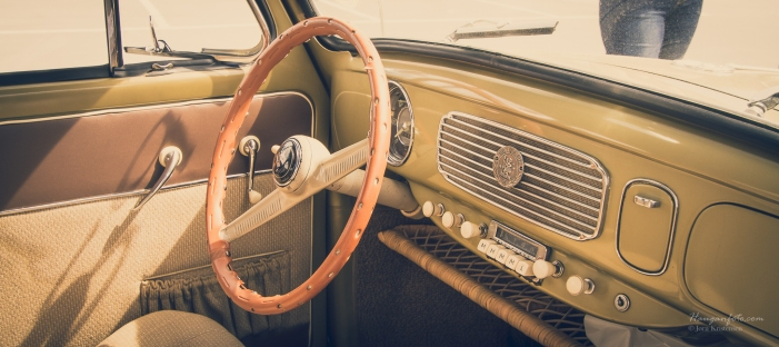 Fin førerplass i eldre boble.