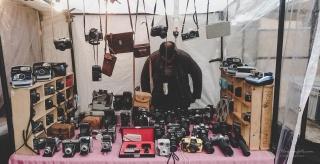 Brukt kamerasjappe. Camden Market