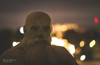 Vigelandsparken, ved monolitten.