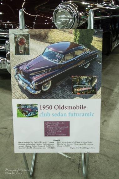 Skikkelig pen Oldsmobile hadde plakaten sin i orden.