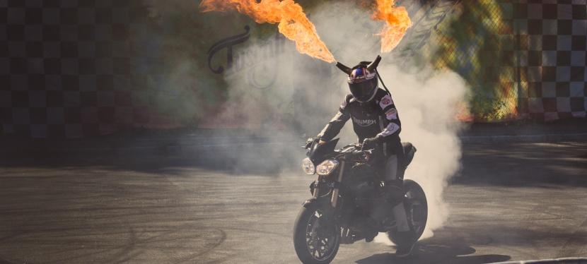 Burneout Stuntshow påTusenfryd