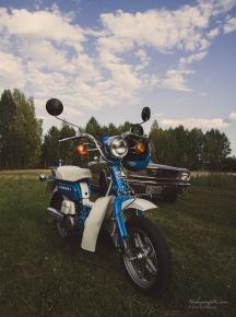 Suzuki FZ. Sånn hadde vi på mopedopplæringen på skolen.